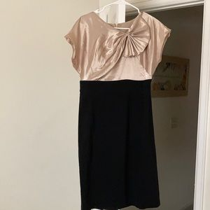 Jones Wear Dress, Gold/Black, size 8